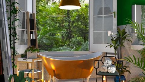 jungle urban bath - Bathroom - by lais baptista