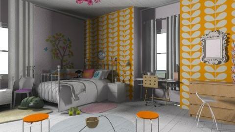 Megans room - Retro - Bedroom - by Amy Neil
