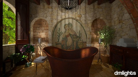 Tuscan bath - Country - Bathroom - by DMLights-user-1468788