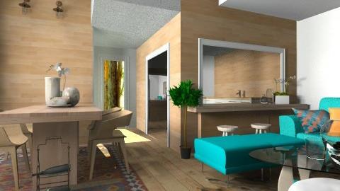 Wood and Glass - Modern - Living room - by RamonaGilia