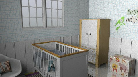 Retro Baby - Vintage - Kids room - by sephara