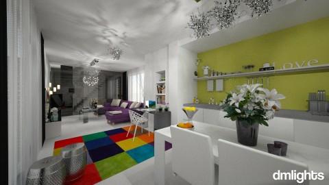 Purple kiss - Living room - by DMLights-user-1528115