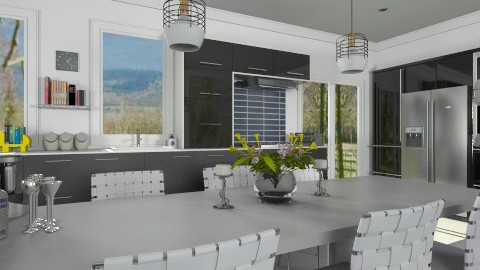 Black and White - Modern - Kitchen - by Bibiche