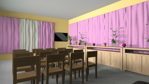 escola  - Living room - by belle22