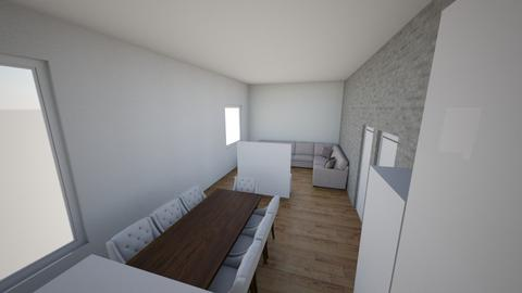 Salon oddzielony TV - Living room - by JacekWojdyr