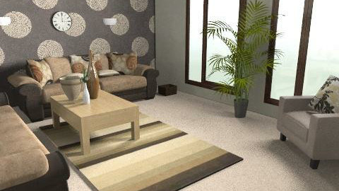 chocolate lounge - revamped - Modern - Living room - by rodyr5