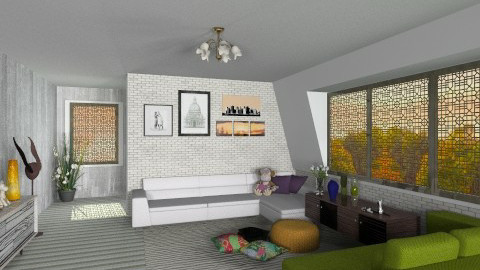 upcent atic - Country - Living room - by Veny Mully
