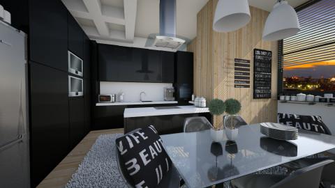 in black - Modern - Kitchen - by Senia N