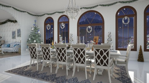 Christmas Night - Glamour - Dining room - by DeborahArmelin