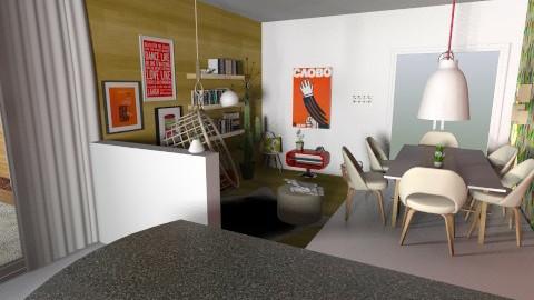 Retro living - Living room - by Sunshinedriver