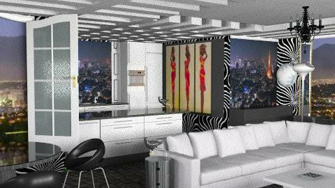 apartamento urbano - Glamour - Living room - by ATELOIV87