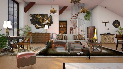 Cat_Banquet - Living room - by ZuzanaDesign
