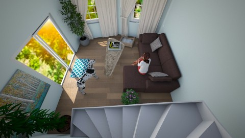 upstairs view - Modern - Living room - by toxic chemical life