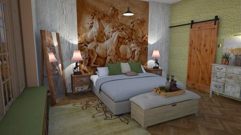 Wild horses - Country - Bedroom - by augustmoon