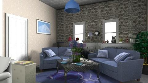 Cozy living room - Glamour - Living room - by KarolinaZ