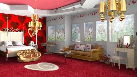 Queen of hearts - Eclectic - Bedroom - by mrschicken