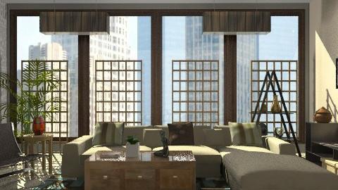 flat - Modern - Living room - by monicasabile