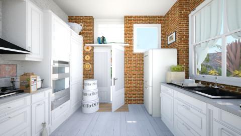 Summer kitchen - Rustic - Kitchen - by Elizabeth Lincoln