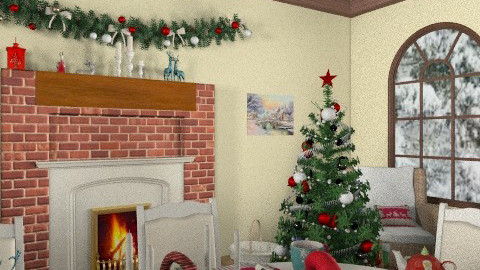 Country christmas_the festive table - Country - Living room - by milyca8