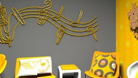 retro orange yea!! - Retro - Living room - by Uh Huh