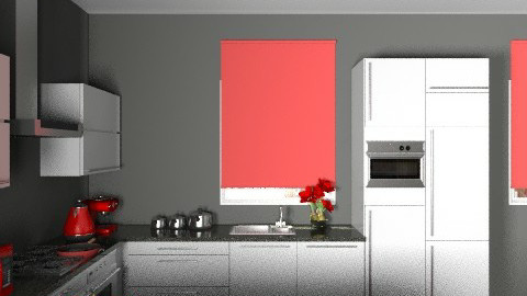 Kitchen1redview2 - Modern - Kitchen - by yvonne400cc