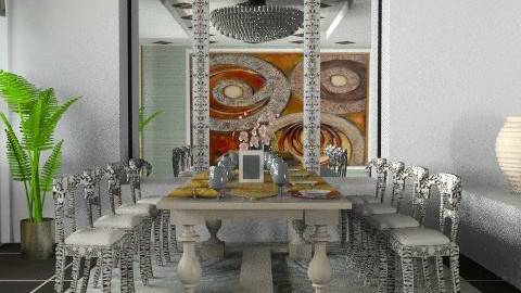 D_Room_Glam - Glamour - Dining room - by liling