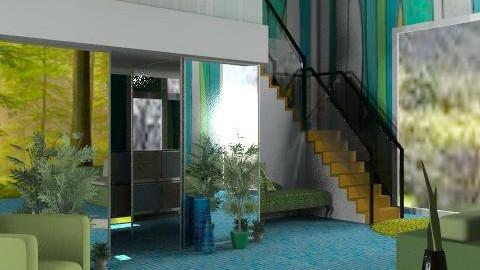 Grasslands - Retro - Living room - by Interiors by Elaine