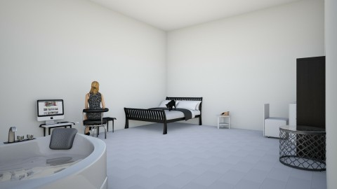 Black and White - Bedroom - by balbuenanathally