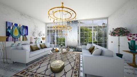 wonderful gold - Living room - by eleonoraxruc