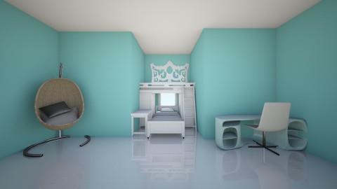 sophias bedroom - Bedroom - by ISABELLA BARBIERI