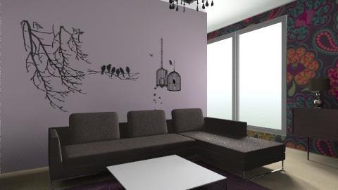 Purple living room - Living room - by vydrovamisulka1