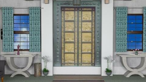 puerta azul - Glamour - Hallway - by ATELOIV87