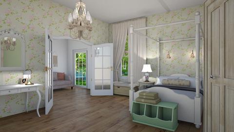 Shabby Chic Bedroom - Bedroom - by Tzed Design