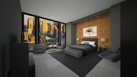Modern Bedroom  - Modern - Bedroom - by jokersdaughter669