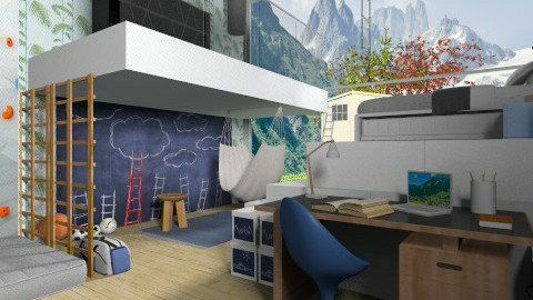 Climbing kids room - Kids room - by deleted_1520806422_Roxy