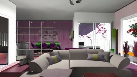 Purple Again    - Living room - by bizarrrr