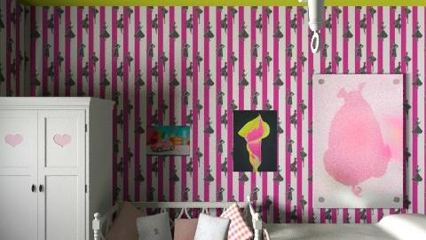 pink bedroom - Vintage - Bedroom - by hemelehem