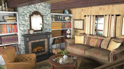 Hideaway - Rustic - Living room - by Theadora