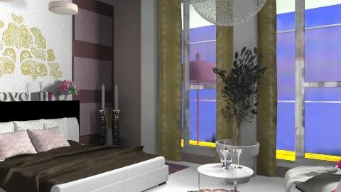 halte romance - Glamour - Bedroom - by calu13