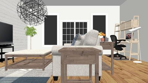 Earthy living room - Modern - Living room - by malbright522