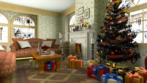 Christmas day - Country - Living room - by XValidze