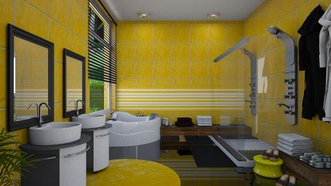 yellow bathroom - by ilcsi1860