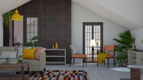 Mid_Century Modern Design - Living room - by i l o n a