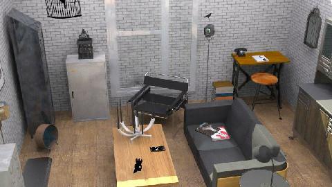 IndustrialLiving - Retro - Living room - by camilla_saurus