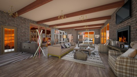 Dutch Family Holiday - Country - Living room - by deleted_1486240105_VermontianRain
