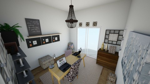 Basement office - Minimal - Office - by crystalfry32