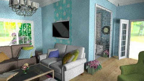 colorful living room - Country - Living room - by dogdog912