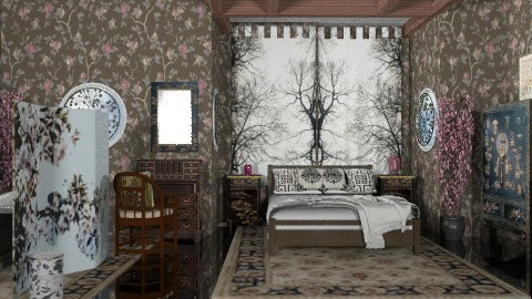 Chinoiserie - Classic - Bedroom - by Bibiche