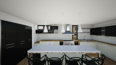 BW Kitchen V3 - Modern - Kitchen - by mrusso0