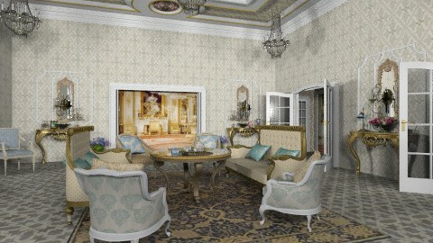 The Queen Tea Room - Classic - Living room - by Bibiche
